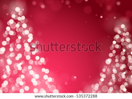 Unfocused Blurred Lights Two Christmas Trees Stock Vector ...