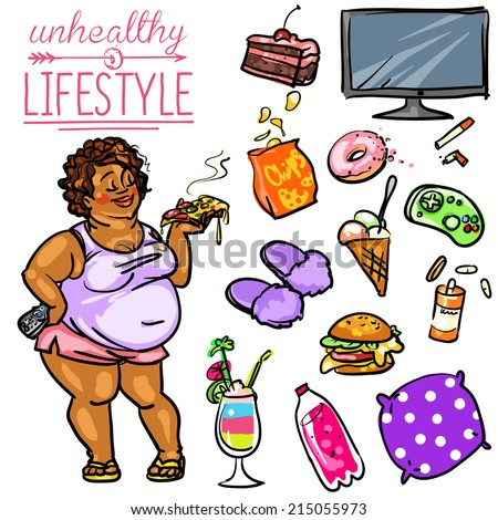 unhealthy lifestyle stock images royaltyfree images
