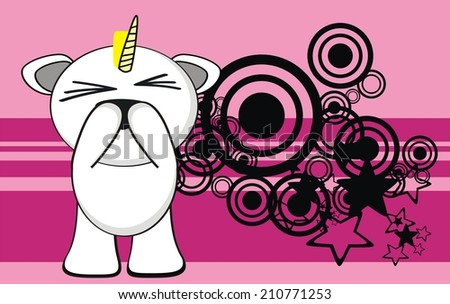 unicorn baby cute cartoon background in vector format very easy to edit