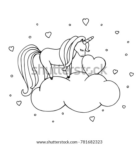 Coloring Horse Zebra moreover Pony Im Wald in addition Unicorn cut out likewise 154 in addition Printable Summer Time Girl Enjoy On Hammock Coloring Pages. on magical unicorn