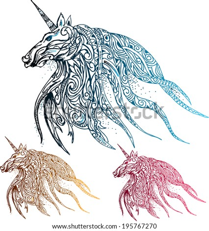Unicorn fantasy  - stock vector