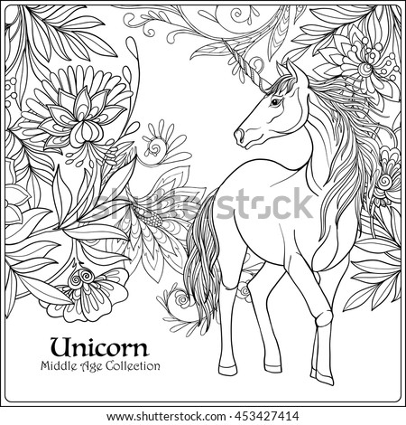 Child Unicorn Drawing Stock Photos Royalty Free Images