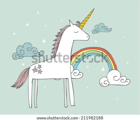 unicorn vector/illustration - stock vector