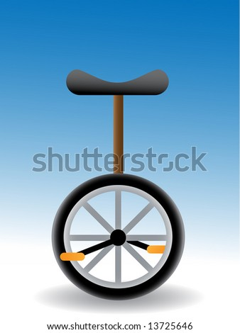 unicycle - simple vector illustration with black seat