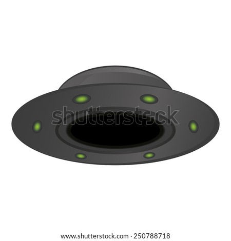 Unidentified flying object issolated on white background, vector illustration - stock vector