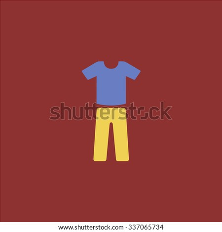 Uniform - pants and t-shirt. Icon Vector. Icon Picture. Icon Graphic. Icon Art. Icon JPG. Icon JPEG. Icon EPS. Icon AI. Icon FLAT. Icon SIMPLE - stock vector