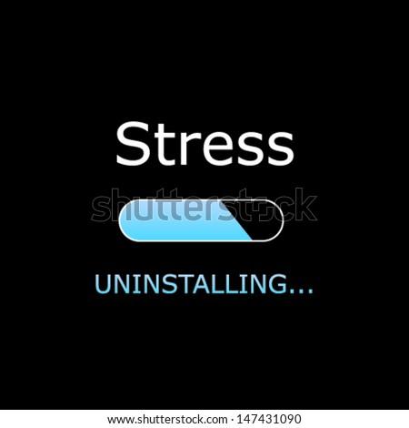 Uninstalling Stress Illustration  - stock vector