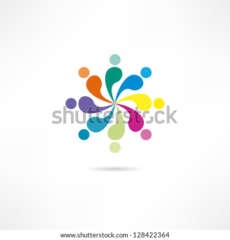 Union icon - stock vector