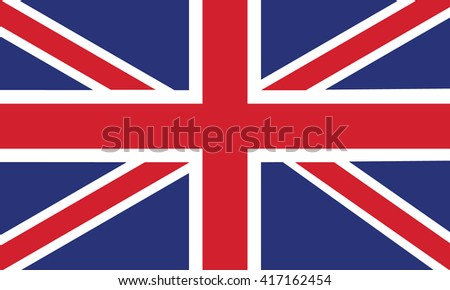 Union Jack, vector image of british flag. Vector illustration