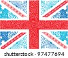 Union Jack vector pattern - stock vector