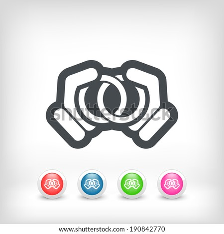 Union rings - stock vector