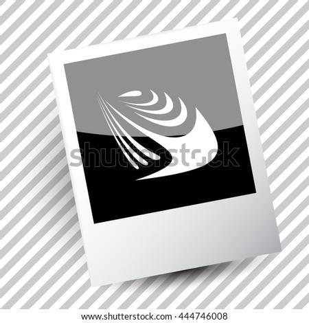 unique abstract forms. Photoframe. Vector icon. - stock vector