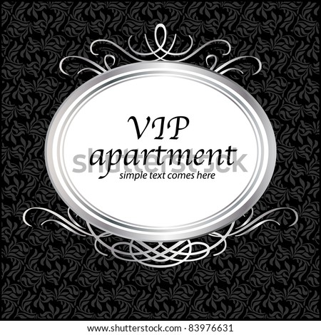 Unique luxury vintage frame. Template for your text. Seamless floral background. - stock vector