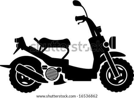 Unique Scooter - stock vector