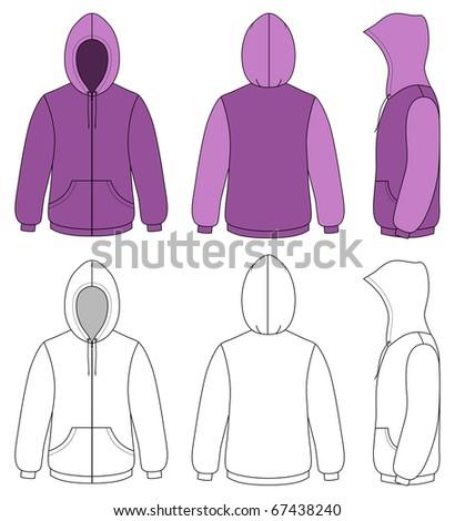Unisex hoodie - stock vector
