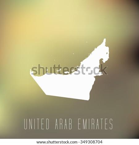 United Arab Emirates - stock vector
