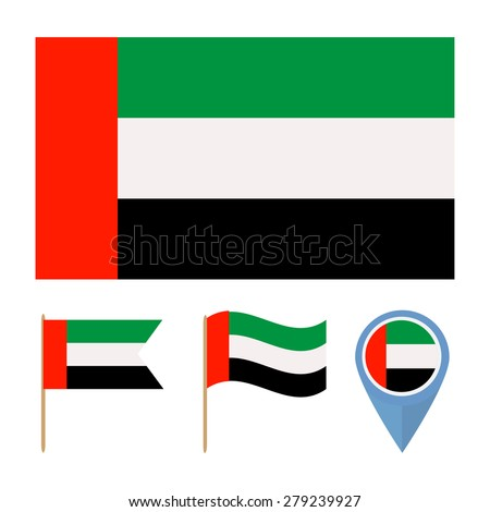 United Arab Emirates, icons for design with reference to a particular country. flag from the same series