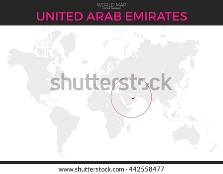 Arab world stock images royalty free images vectors shutterstock united arab emirates location modern detailed vector map all world countries without names vector publicscrutiny Choice Image