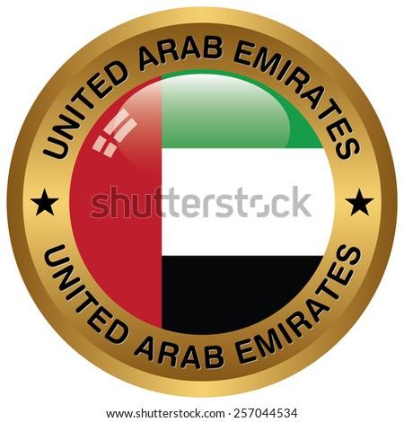 United Arab Emirates rosette - stock vector