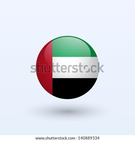 United Arab Emirates round flag. Vector illustration. - stock vector