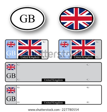 united kingdom auto set against white background, abstract vector art illustration, image contains transparency - stock vector