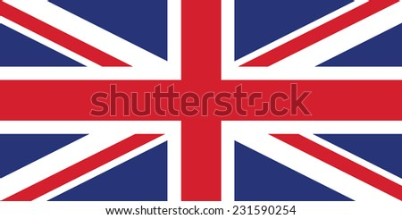 United Kingdom (British Union jack) flag - rightly colors and proportions - stock vector