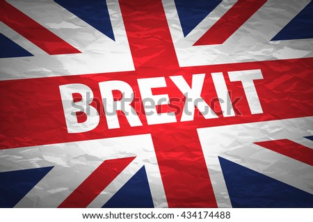 United Kingdom exit from europe relative image. Brexit named politic process. Referendum theme art - stock vector