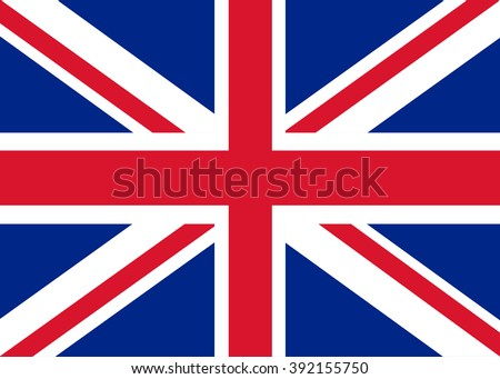 United Kingdom flag, british flag - stock vector