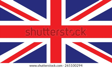 united kingdom Flag for Independence Day and infographic Vector illustration.