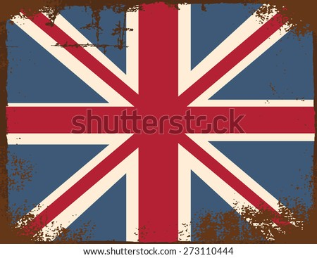 united kingdom flag, illustration in vector format - stock vector