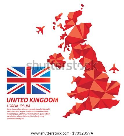 United Kingdom geometric concept design - stock vector