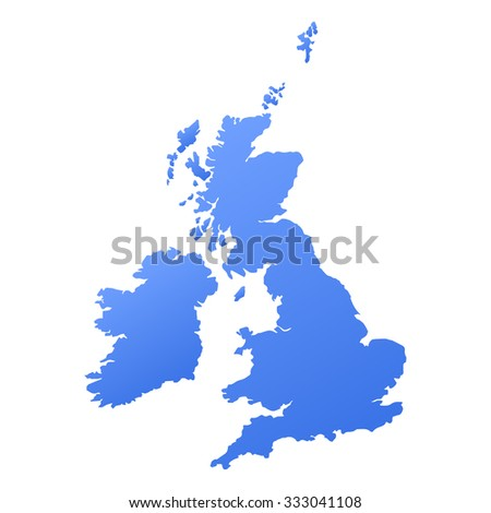 United Kingdom,Great Britain country map,border - stock vector