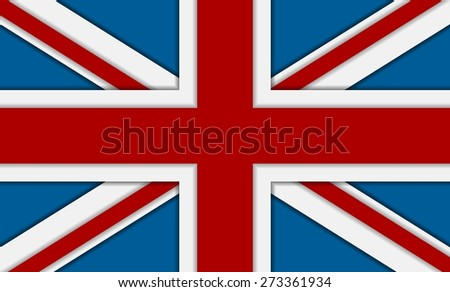 United Kingdom of Great Britain flag. Vector corporate background - stock vector