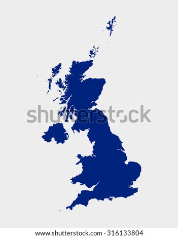 United Kingdom of Great Britain - map - stock vector