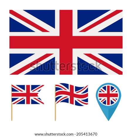 United Kingdom. pattern for decoration, decoration and design. flag from the same series