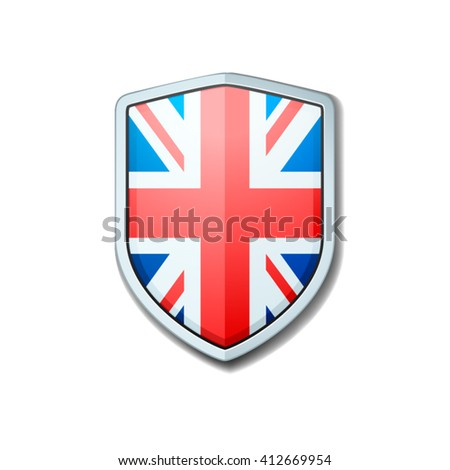 United Kingdom Shield - stock vector
