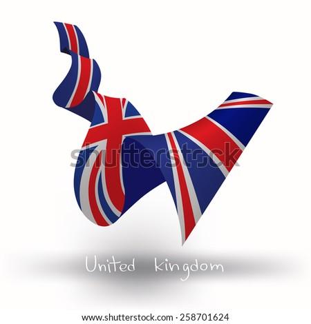 United Kingdom, UK flag, three dimensional render - stock vector