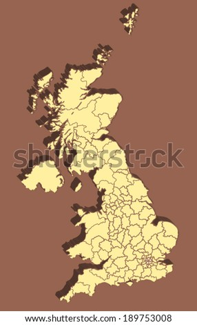 United Kingdom Vector Map - stock vector