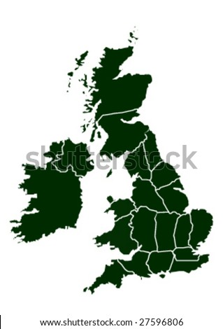 united kingdom vector map - stock vector