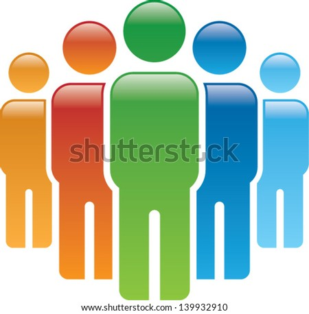 united people - stock vector