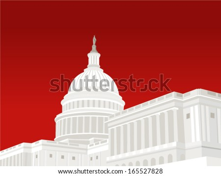 United States Capitol Building in Washington DC - stock vector