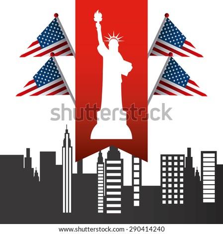 united states celebration design, vector illustration eps10 graphic  - stock vector