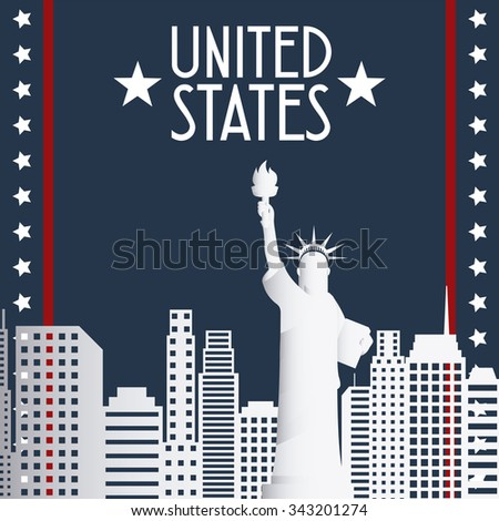 United states concepts with patriotism  icons design, vector illustration 10 eps graphic