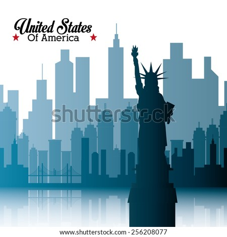 United States conceptual design, vector illustration.