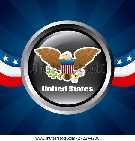 united states design, vector illustration eps10 graphic  - stock vector