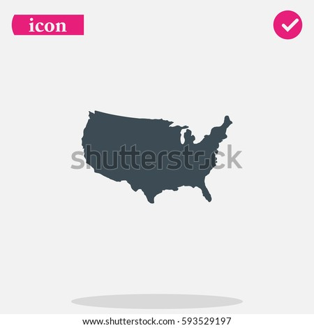 United States Icon Stock Images RoyaltyFree Images Vectors - Us map icon