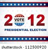 united states election vote, presidential election. vector illustration - stock photo