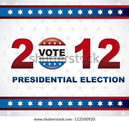 united states election vote, presidential election. vector illustration - stock vector