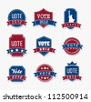 united states election vote tags over gray background. vector - stock photo