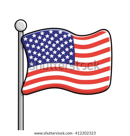 united states flag stock photo photo vector illustration rh shutterstock com cartoon flamingo cartoon flamingo